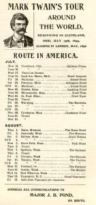 Mark Twain's Tour