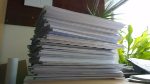 A pile of dissertations, today