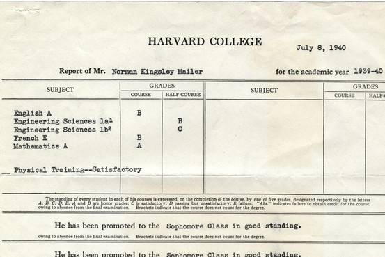 Norman Mailer Report Card
