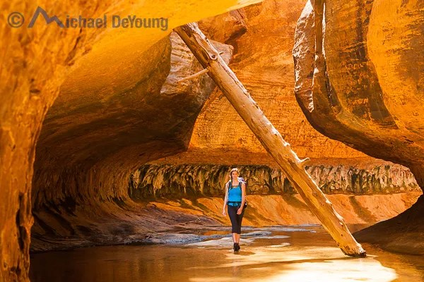 "Adventure Hike and Shoot in ""The Subway"", Zion National Park, Utah."