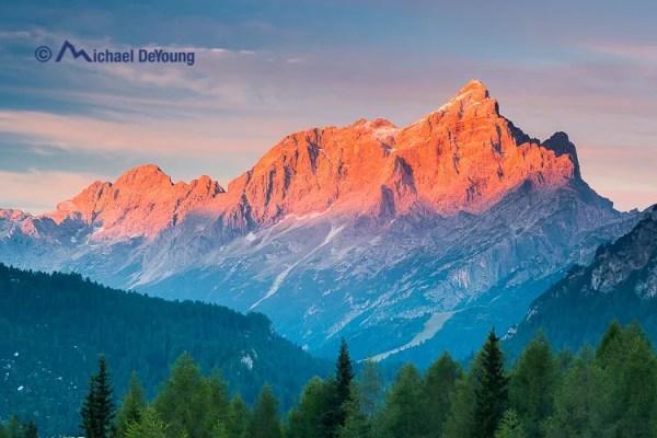 sunrise, Dolomites, Italy