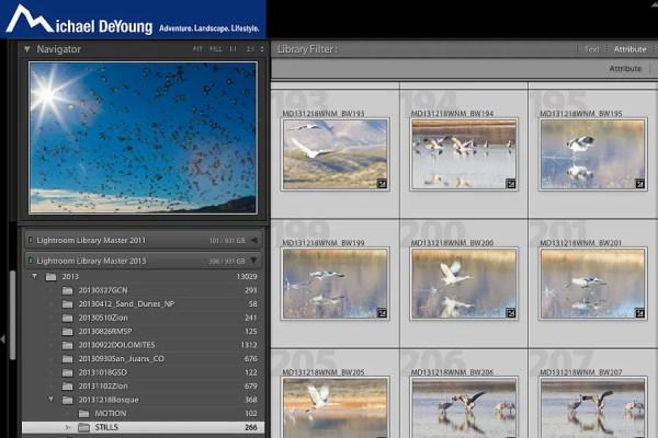 Screenshot of Lightroom showing second edit count