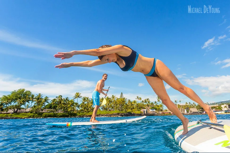 Hawaii adventure - Diving off a paddle board by Michael DeYoung