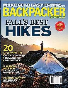 Backpacker Magazine Cover October 2017 by Michael DeYoung