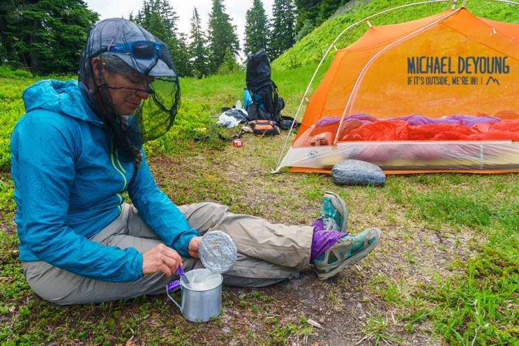 Camping along the PCT - Glacier Peak Wilderness, Washington