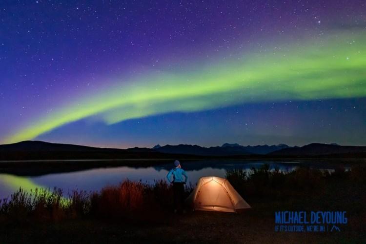 Aurora borealis dancing in the August sky.