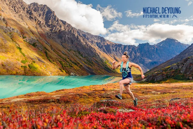 Trail runner at Eagle Lake - Eagle River, AK