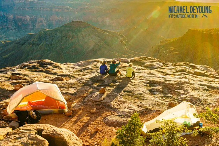 Camping along the Esplanade on the Thunder River Trail - Grand Canyon