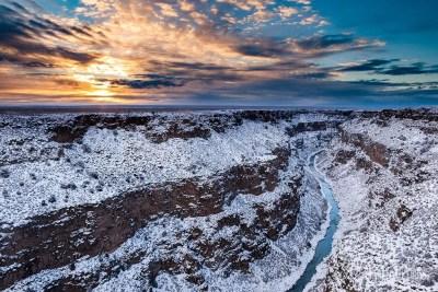 Winter scenic of Rio Grande Gorge