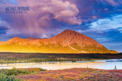 Sunset and fall colors along the Big Susitna River, Denali Highway. © Michael DeYoung