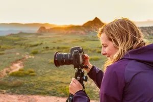 Photography student composing her image in Zion. © Michael DeYoung
