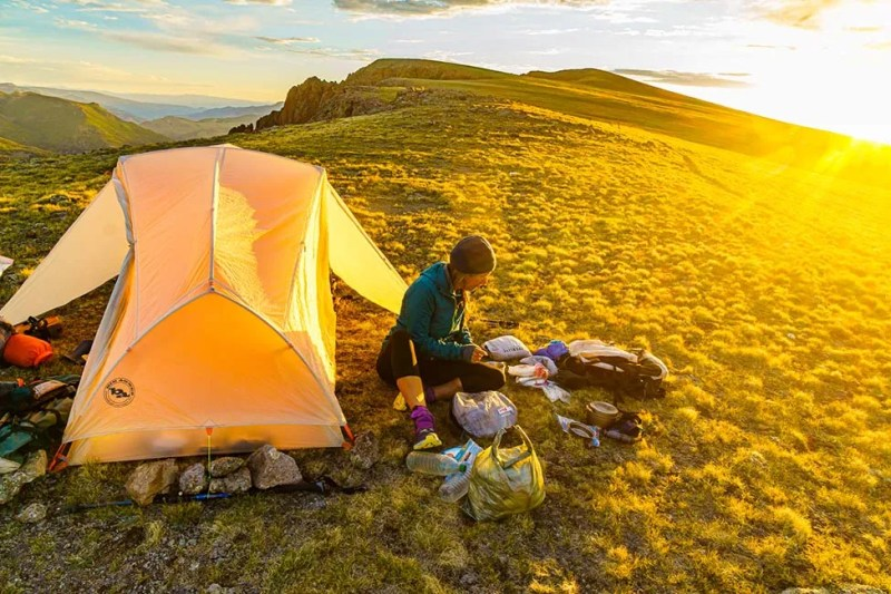 Camp on Continental Divide Trail near Spring Creek Pass. Photo © Michael DeYoung