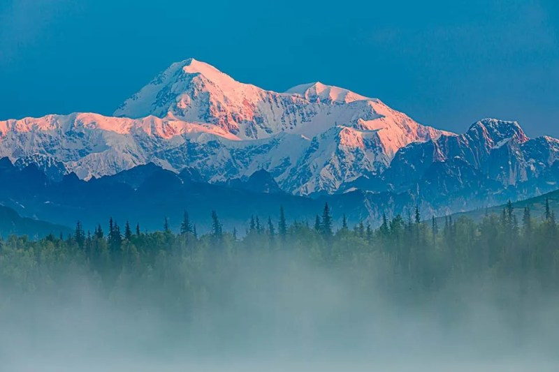 Southeast side view of Denali (sometimes referred to as Mt. McKinley) in Alaska. ©Michael DeYoung
