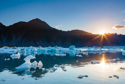 Icebergs fill Bear Glacier Lake © Michael DeYoung