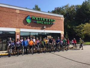 Inaugural Active Prince William Bikes and Beers ride participants