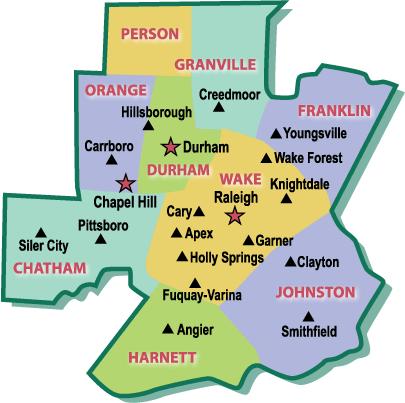 Triangle Area Map