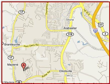 Location Map Grande View Estates Alabaster Alabama