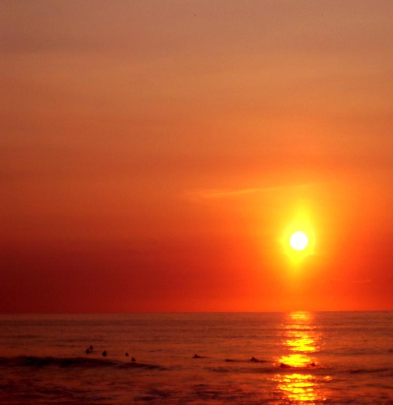 San Pancho sunset by Earl Miller