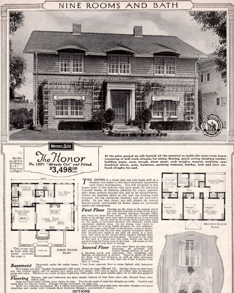"Sears ""Honor"" catalog page"
