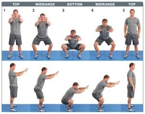 Kelly Starrett demonstrates a body weight squat