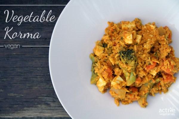 Vegetable Korma Vegan 3