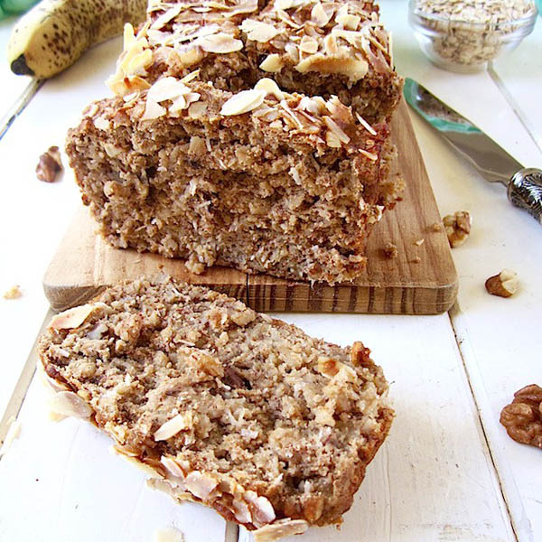Healthy High Protein Vegan + GF Banana Nut Bread