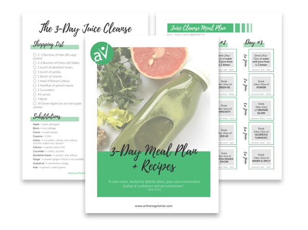 3 day juice cleanse meal and recipes plan example with shopping list and schedule