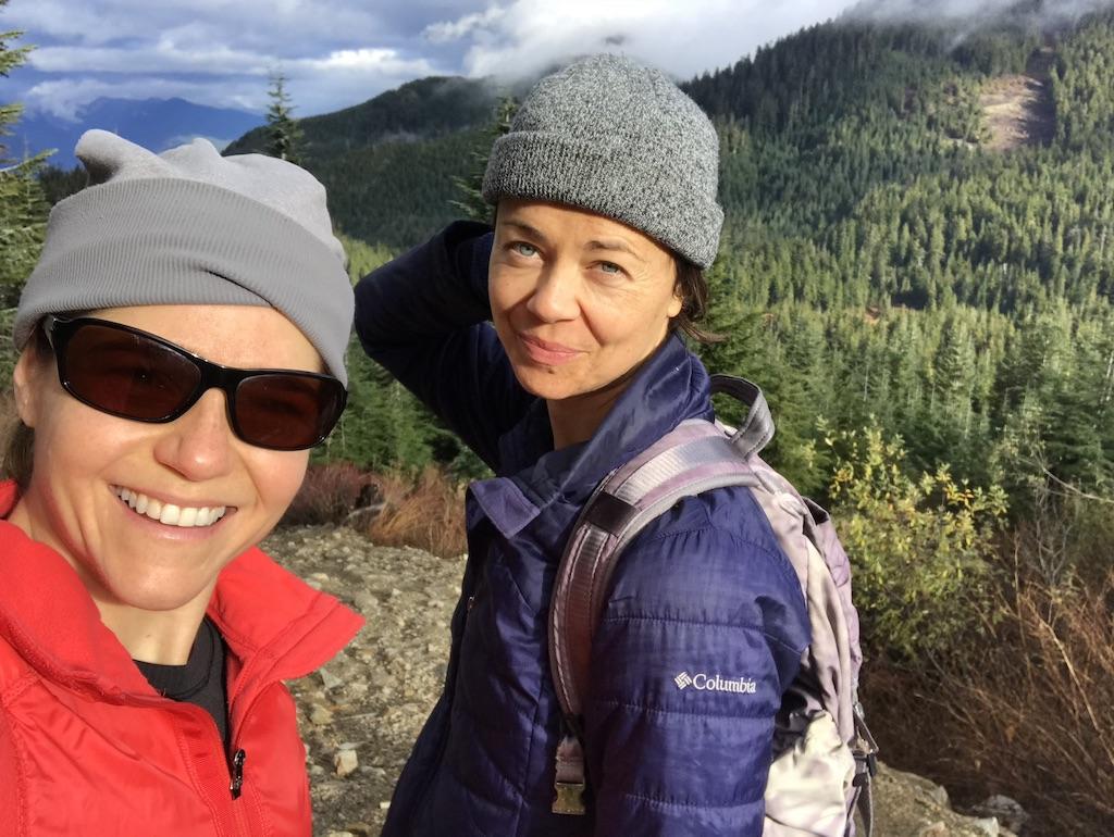 This is Nikki and Zuzana hiking