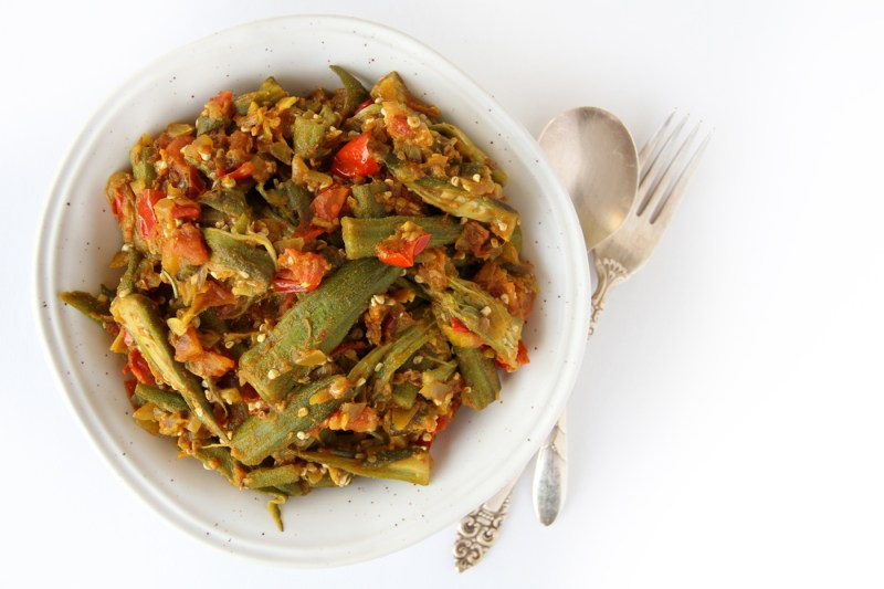 This is a oil-free vegan okra recipe.