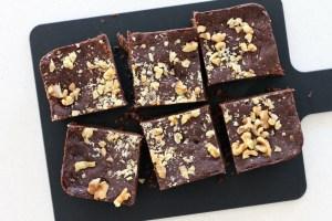 Walnut No Bake Brownies by Active Vegetarian