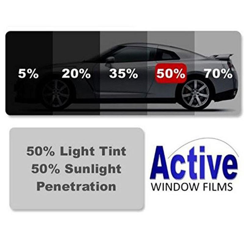 50 Ultra Light Black Car Window Auto Tint Film For Tinting Cars