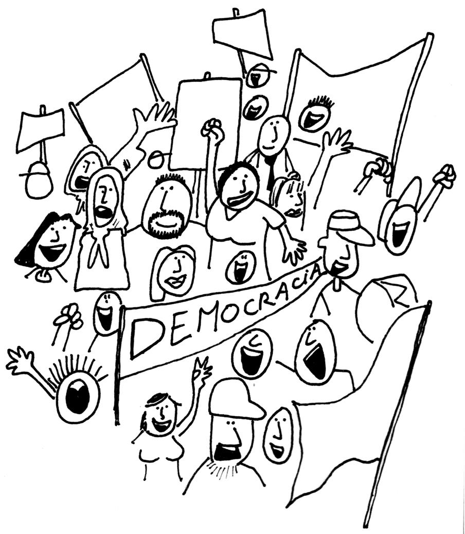 sobre la democracia colouring pages