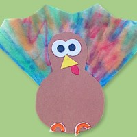 Mini Turkey Craft for Kids
