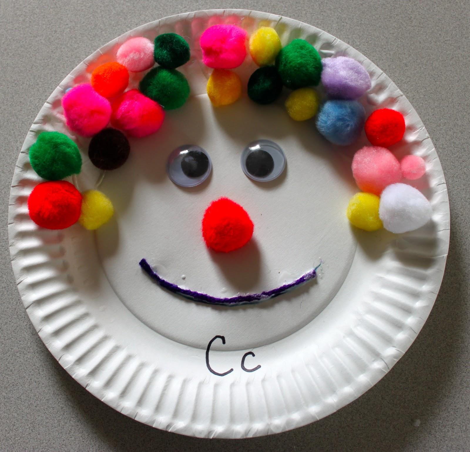 Paper Plate Clown Craft Amp Accordion Clown Craft