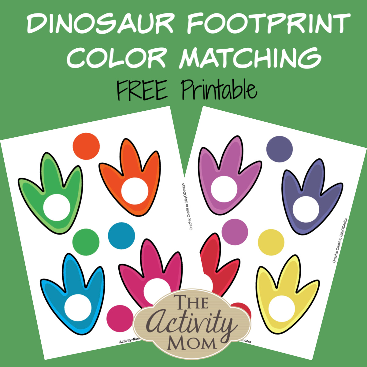 The Activity Mom Free Printable Dinosaur Color Matching The Activity Mom