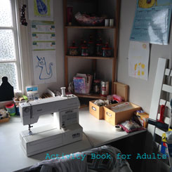 tidy sewing corner