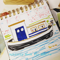 15 minutes of drawing: house boat