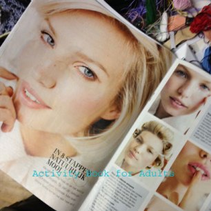 magazine pictures with faces