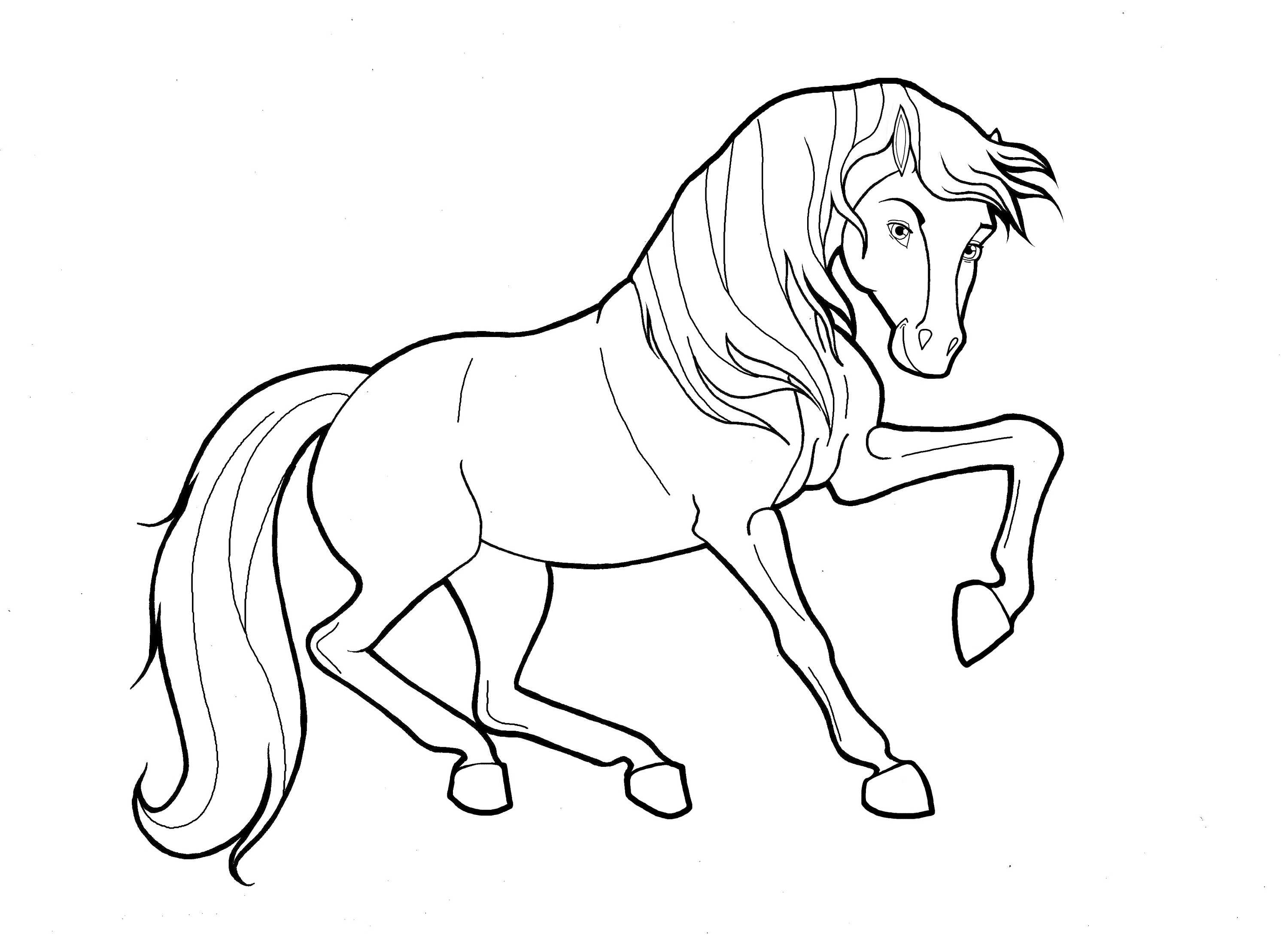 Printable Color Pages Of Horses
