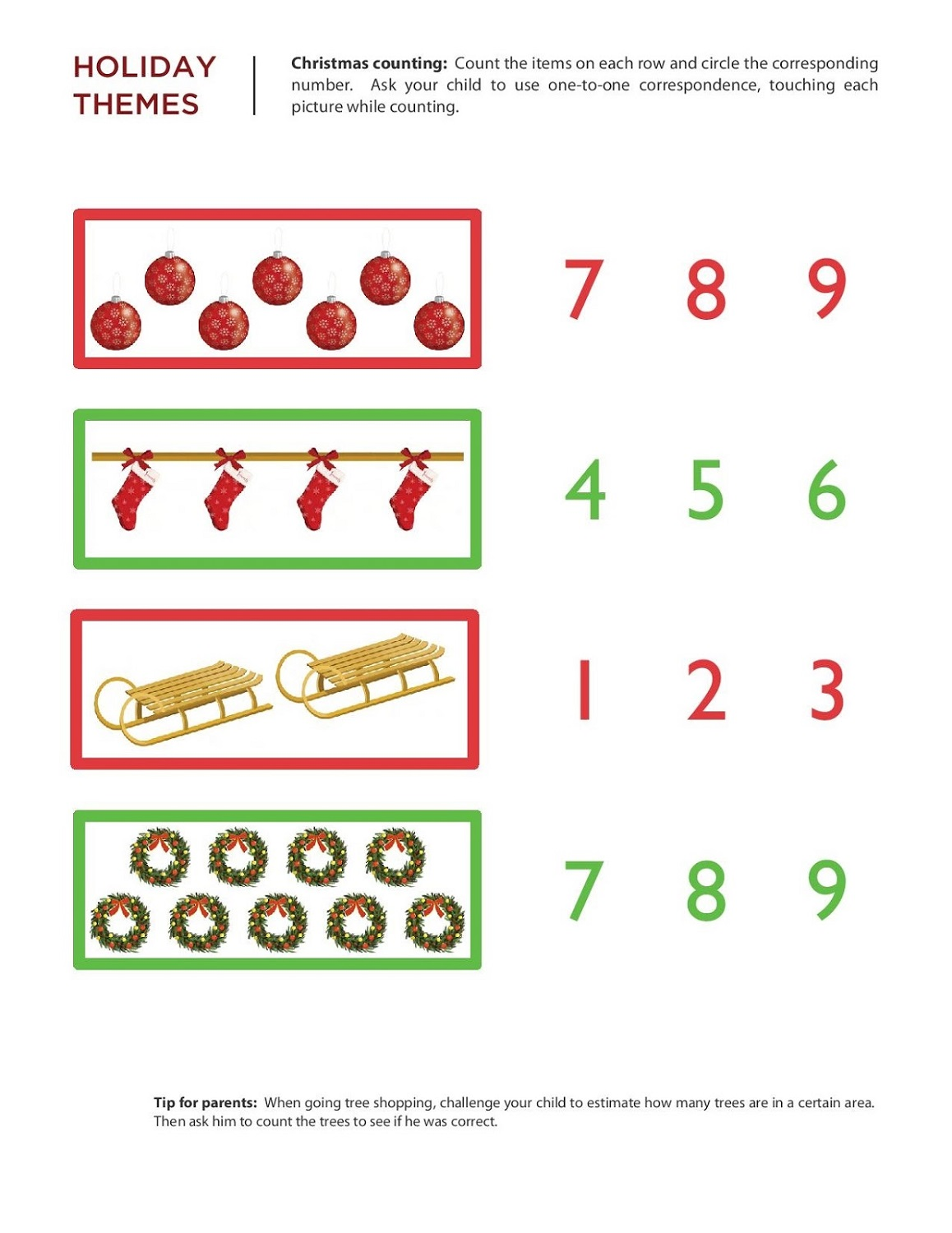 Free Numeracy Worksheets