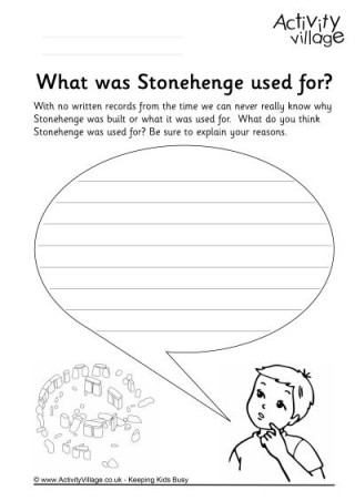Stonehenge Colouring Page