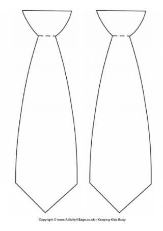 Necktie Template Here S A To Use In Your Crafty Kids Projects Tie