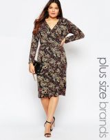 Midi Dress in Paisly Print