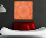 Centre orange IS acrylique sur toile, 100x100 cm 2010 1920 72 dpi