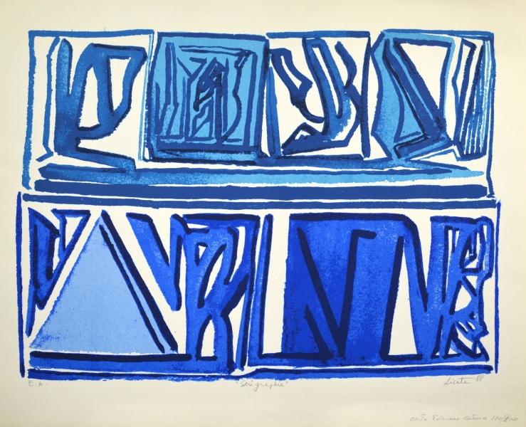 bleue 88 serigraphie 56 x 69