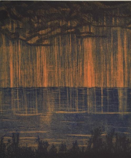 38-La pluie- gravure 38X46 1920 72 dpi