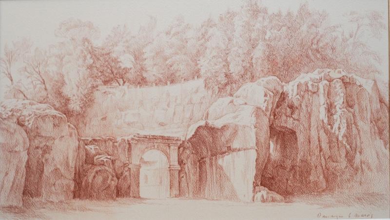 Entrée amphitheatre Sutri 26 5 x 46 Sanguine 1920 72 dpi