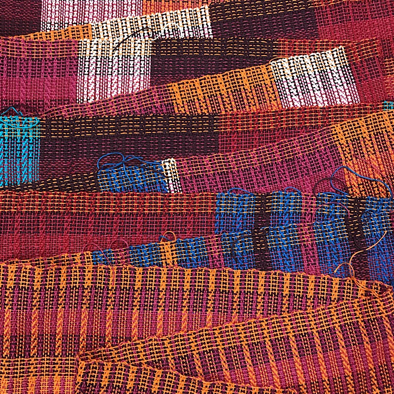 Woven fabric hot off the loom!