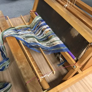 Reed goes into the table loom