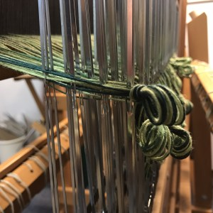 Handwoven Green Fabric - heddles